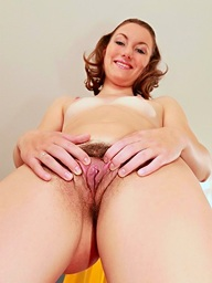 Hairy twat riding the sybian