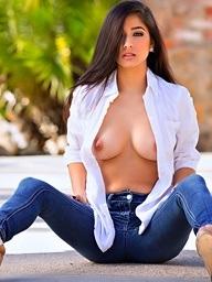 Megan Salinas rips elsewhere her shirt increased by..